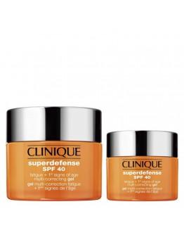 Coffret Clinique Superdefense SPF40 Fatigue + 1st Signs of Age Multi-Correcting Gel 50 ml